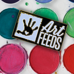 Art Feeds Company Pin