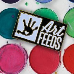Art Feeds Company Pin