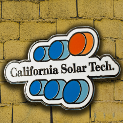 California Solar Tech Company Logo Pin