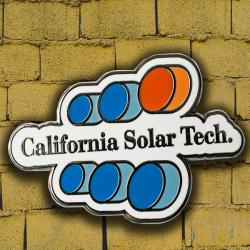 California Solar Tech Company Logo Pin